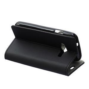 Wall peňaženkové puzdro pre Samsung Galaxy Trend 2 Lite - čierne - 4