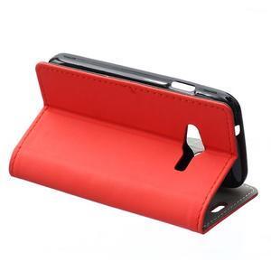 Wall peněženkové pouzdro na Samsung Galaxy Trend 2 Lite - červené - 4