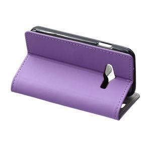 Wall peňaženkové puzdro pre Samsung Galaxy Trend 2 Lite - fialové - 4