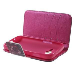 Peňaženkové puzdro pre Samsung Galaxy Trend 2 Lite - srdca - 4