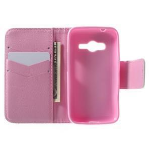 Peňaženkové puzdro pre Samsung Galaxy Trend 2 Lite - motýle - 4
