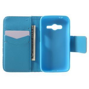 Peněženkové pouzdro na Samsung Galaxy Trend 2 Lite - modrý slon - 4