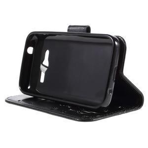 Butterfly pouzdro na mobil Samsung Galaxy Trend 2 Lite - černé - 4