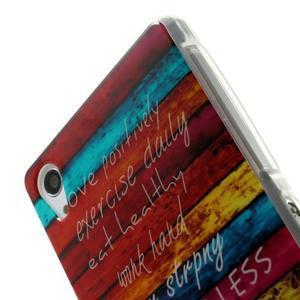 Emotive gélový obal pre Sony Xperia Z2 - farby dreva - 4