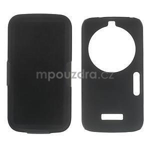 Odolný pogumovaný kryt so stojanom pre Samsung Galaxy K Zoom - čierny - 4