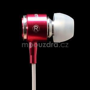Pecková sluchátka s hands free, červená - 4