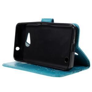 Butterfly koženkové puzdro na Microsoft Lumia 550 - modré - 4