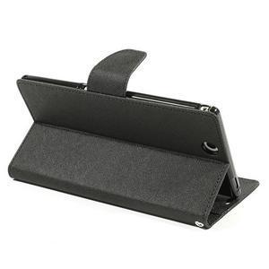 Diary PU kožené pouzdro na Sony Z Ultra - černé - 4