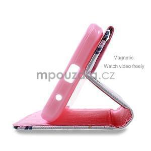 Štýlové puzdro na mobil Huawei Ascend Y550 - kvety - 4