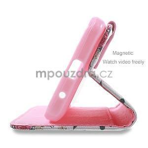 Štýlové puzdro na mobil Huawei Ascend Y550 - kvetinová koláž - 4