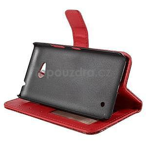Croco peňaženkové puzdro s krokodílím motívom na Microsoft Lumia 640 - červené - 4