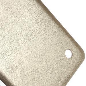 Gélový obal s jemnou koženkou na Microsoft Lumia 550 - zlatý - 4
