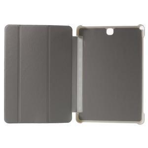 Trifold polohovatelné puzdro na Samsung Galaxy Tab A 9.7 - biele - 4