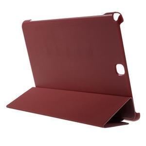 Trifold polohovatelné puzdro na Samsung Galaxy Tab A 9.7 - červené - 4
