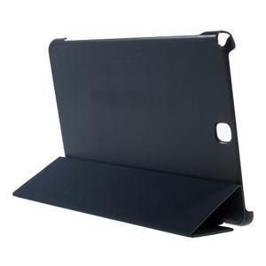 Trifold polohovatelné puzdro na Samsung Galaxy Tab A 9.7 - tmavo modré - 4