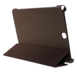 Trifold polohovatelné puzdro na Samsung Galaxy Tab A 9.7 - hnedé - 4