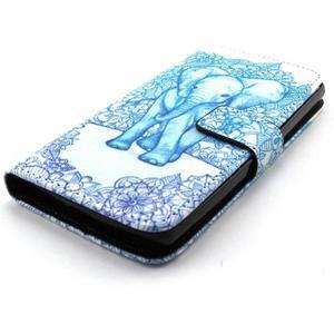 Peneženkové puzdro na mobil LG G4c - slon - 4