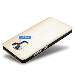 Elegantní PU kožené puzdro na mobil Huawei Honor 7 - gold - 4