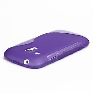 Fialové gélové puzdro pre Samsung Galaxy S3 mini /i8190 - 4