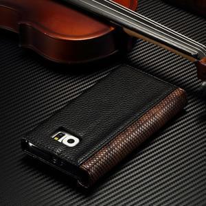 Breck peňaženkové puzdro pre Samsung Galaxy S6 - čierné/hnedé - 4