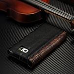 Breck peňaženkové puzdro pre Samsung Galaxy S6 - čierné/hnedé - 4/4