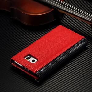 Breck peňaženkové puzdro na Samsung Galaxy S6 - červené/čierné - 4