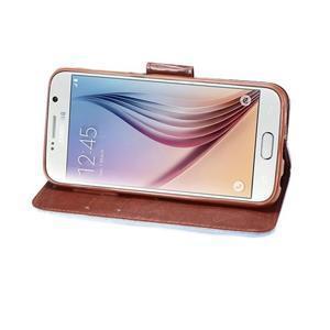 Cloth peňaženkové puzdro pre Samsung Galaxy S6 - svetlo modré - 4