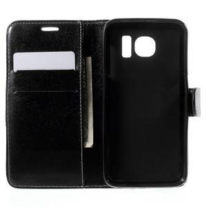Módní štýlové puzdro pre Samsung Galaxy S6 - čierné - 4