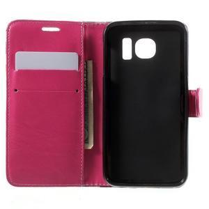 Módní štýlové puzdro pre Samsung Galaxy S6 - rose - 4