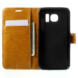 Módní štýlové puzdro na Samsung Galaxy S6 - oranžové - 4
