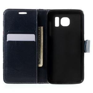 Módní štýlové puzdro na Samsung Galaxy S6 - tmavo modré - 4