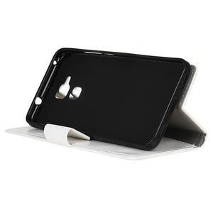 Horse PU kožené pouzdro na mobil Honor 7 Lite - bílé - 4