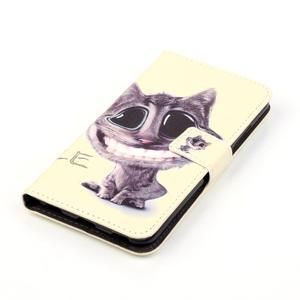 Emotive PU kožené pouzdro na mobil Honor 7 Lite - kočka - 4