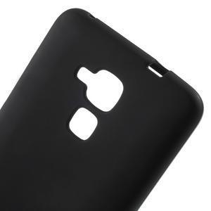Matný gelový obal na mobil Honor 7 Lite - černý - 4