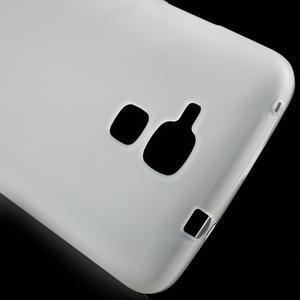 Matný gélový obal pre mobil Honor 7 Lite - biely - 4