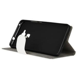 Peňaženkové PU kožené puzdro pre mobil Honor 7 Lite - bielé - 4