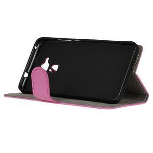 Peňaženkové PU kožené puzdro pre mobil Honor 7 Lite - rose - 4