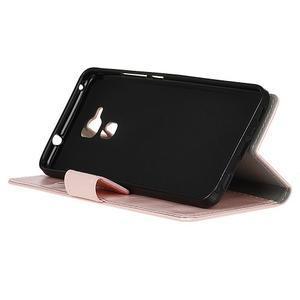 Horse PU kožené puzdro pre mobil Honor 7 Lite - ružové - 4