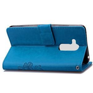 Buttefly PU kožené pouzdro na mobil Honor 7 Lite  - modré - 4