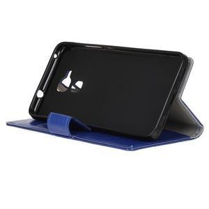 Horse PU kožené puzdro pre mobil Honor 7 Lite - modré - 4