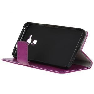Horse PU kožené pouzdro na mobil Honor 7 Lite - fialové - 4