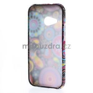 Gélový kryt na HTC One mini 2 - farebné kruhy - 4
