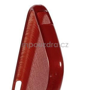 Broušený gélový obal pre HTC One mini 2 - červený - 4