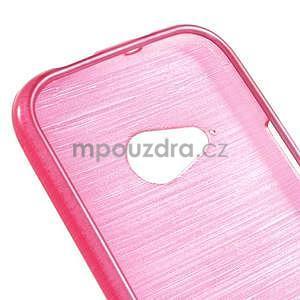 Broušený gélový obal pre HTC One mini 2 - rose - 4