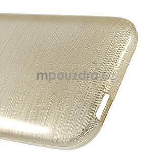 Broušený gélový obal pre HTC One mini 2 - champagne - 4
