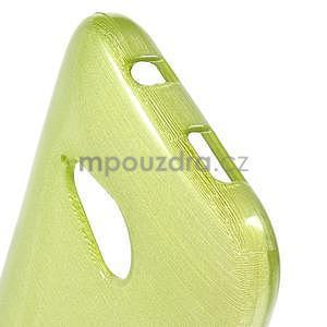 Broušený gélový obal pre HTC One mini 2 - zelený - 4