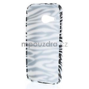 Gélový kryt pre HTC One mini 2 - zebra - 4