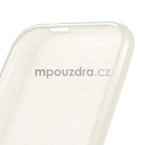 Broušený gélový obal na HTC One mini 2 - biely - 4