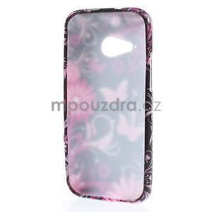 Gélový kryt na HTC One mini 2 - květiny a motýlci - 4