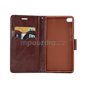 Štýlové peňaženkové puzdro Jeans na Huawei Ascend P8 -  čiernomodré - 4